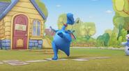 Stuffy doing hopscotch