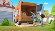 Carlos and his dad moving truck