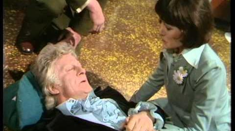 Third_Doctor_regenerates_-_Jon_Pertwee_to_Tom_Baker_-_BBC
