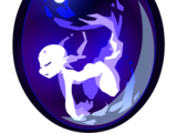 Large Crackling Blue Fairywork