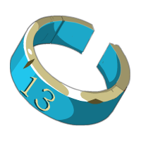 Blue Piwi Ring
