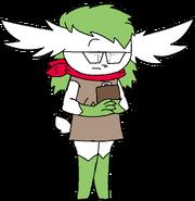 Verda with a clipboard