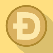 Dogecoin Flat Design -sample-