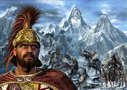 Hannibal crossing the alpes