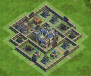 90 Walls Medieval War Base nr2 With Castle
