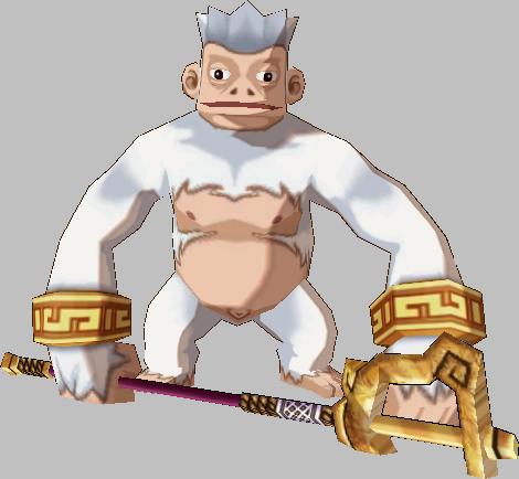 White Divine Monkey Guardian