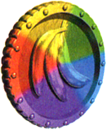 Moeda Banana Multi-colorida