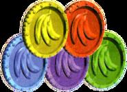 Moeda Banana Colorida