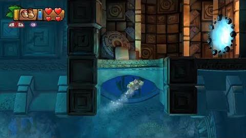 Donkey Kong Country Tropical Freeze - Level 4-1 Deep Keep Unlocking Bonus Stage 4-A