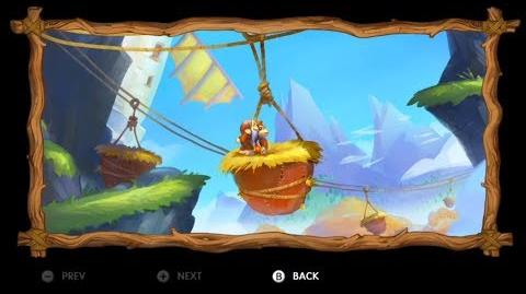 Donkey Kong Country Tropical Freeze - Level 2-1 Windmill Hills All Puzzle Pieces KONG Letters