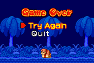 The game over screen