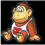 Donkey Kong Jr. sitting down