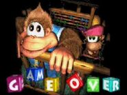 Donkey kong country 3 gba game over
