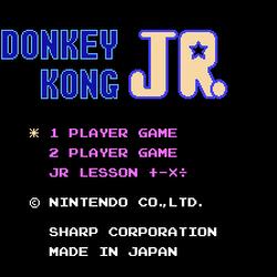 Donkey Kong Jr. + Jr. Sansū Lesson