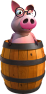 Cerdo en barril