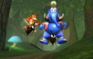 Zinger de Taj y DK - Donkey Kong Racing