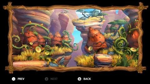 Donkey Kong Country Tropical Freeze - Level 3-B Bramble Scramble All Puzzle Pieces KONG Letters