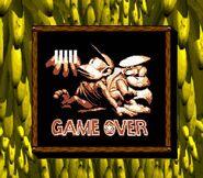 Donkey kong land 2 game over