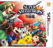 Super Smash Bros for 3DS NA Cover