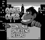 Donkey kong 94 game over screen