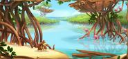 Boceto del manglar remoto