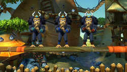 Donkey Kong Country Tropical Freeze Level 3 Boss Triple Trouble.png