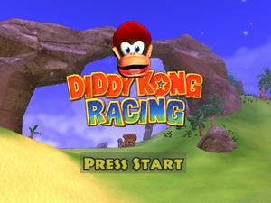 Diddy Kong Racing Adventures pantalla de título.png
