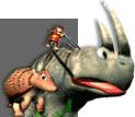 Rambi y Diddy Arte - Donkey Kong Racing