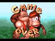 Donkey kong country gba game over