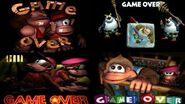 Evolution of Game Over Screens in Donkey Kong Country Games (1994-2018)