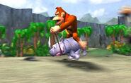 DK sobre Rambi - Donkey Kong Racing