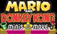 Mario and Donkey Kong Minis on the Move NA Logo