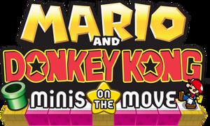 Mario and Donkey Kong Minis on the Move NA Logo.png
