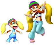 Tiny Kong Young and Older appearances