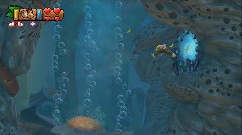 Donkey Kong Country Tropical Freeze - Level 1-2 Shipwreck Shore Unlocking Bonus Stage 1-A