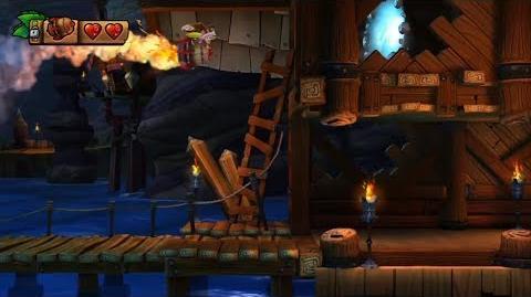 Donkey Kong Country Tropical Freeze - Level 3-5 Twilight Terror Unlocking Bonus Stage 3-B