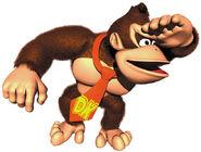 DK mirando hacia adelante arte DK64