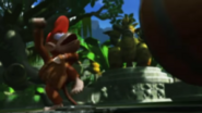 Mario Super Sluggers Diddy Kong freaking out