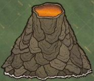 Out of Dry Season Volcano on Map