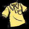 Downright Neighborly Yellow Collared Shirt Icon