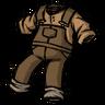 Werebeaver Brown Overalls Icon
