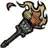 Carved Stone Torch Icon