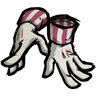 Candy-Striped Gloves Icon
