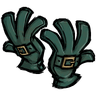 Jungle Green Buckled Gloves Icon