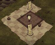 Chess set piece carpet