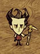 Wilson wielding the walking cane