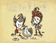 Wilson and Winona with Machine Drawing
