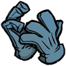 Rubber Glove Blue Hand Covers Icon