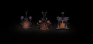 Different skins of Scale Furnaces in the dark