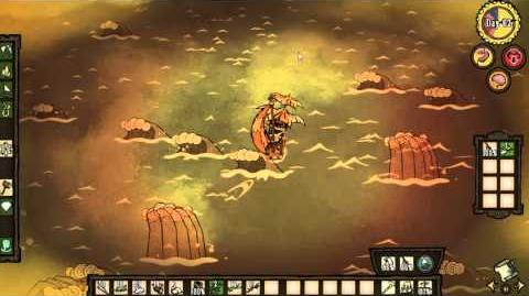 Don't Starve Shipwrecked Dodging Meteors